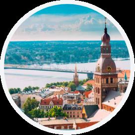 Landscape of Riga, Latvia