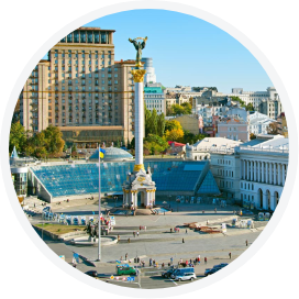 Landscape of Kiev, Ukraine
